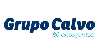 Logotipo Grupo Calvo 80 años juntos